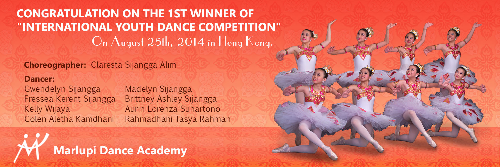 1st Winner Hong Kong International Youth Dance Competition 2014